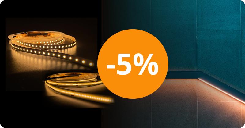 5% rabat på Noxion LED Strips