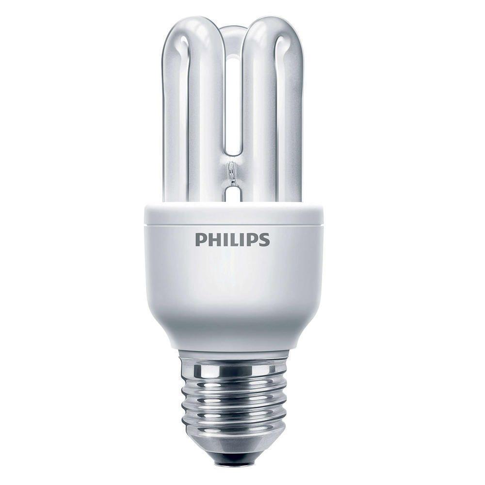 Philips Genie ESaver 8W 827 E27   ekstra varm hvid