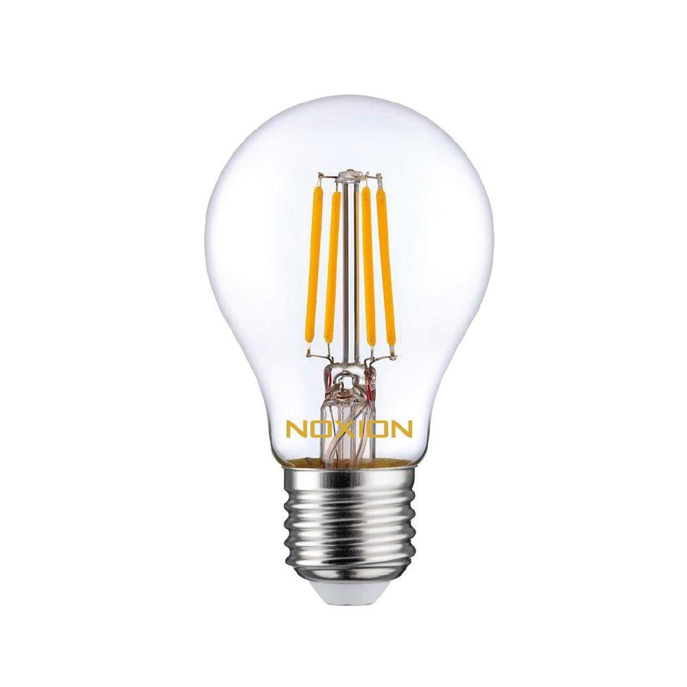 Noxion Lucent filament LED Bulb 8W 827 A60 E27 klar | ekstra varm hvid - erstatter 75W