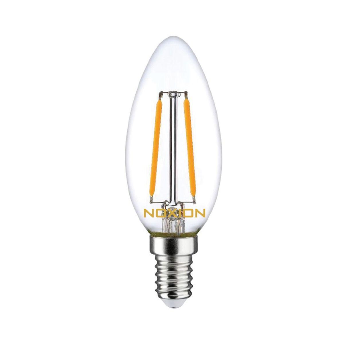 Noxion Lucent filament LED Kerte B35 E14 2.5W 250lm 827   dæmpbar - ekstra varm hvid - erstatter 25W