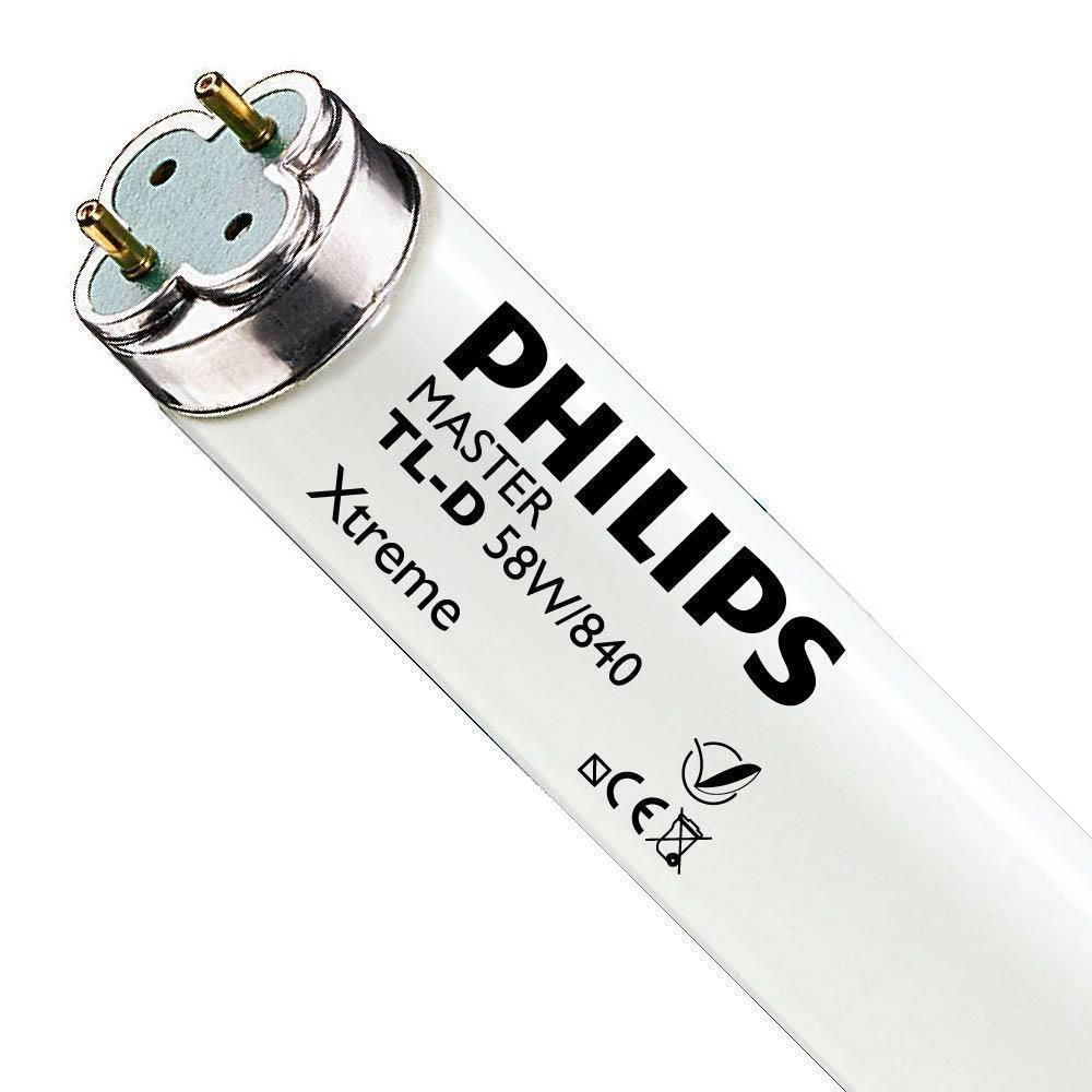 Philips TL-D Xtreme 58W 840 (MASTER)   150cm - kold hvid