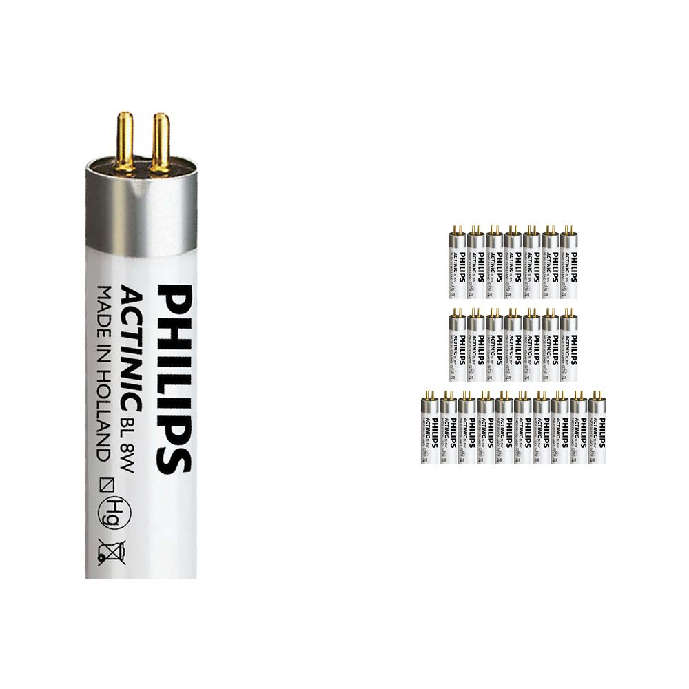 Fordelspakke 25x Philips Actinic BL TL 8W 10 G5