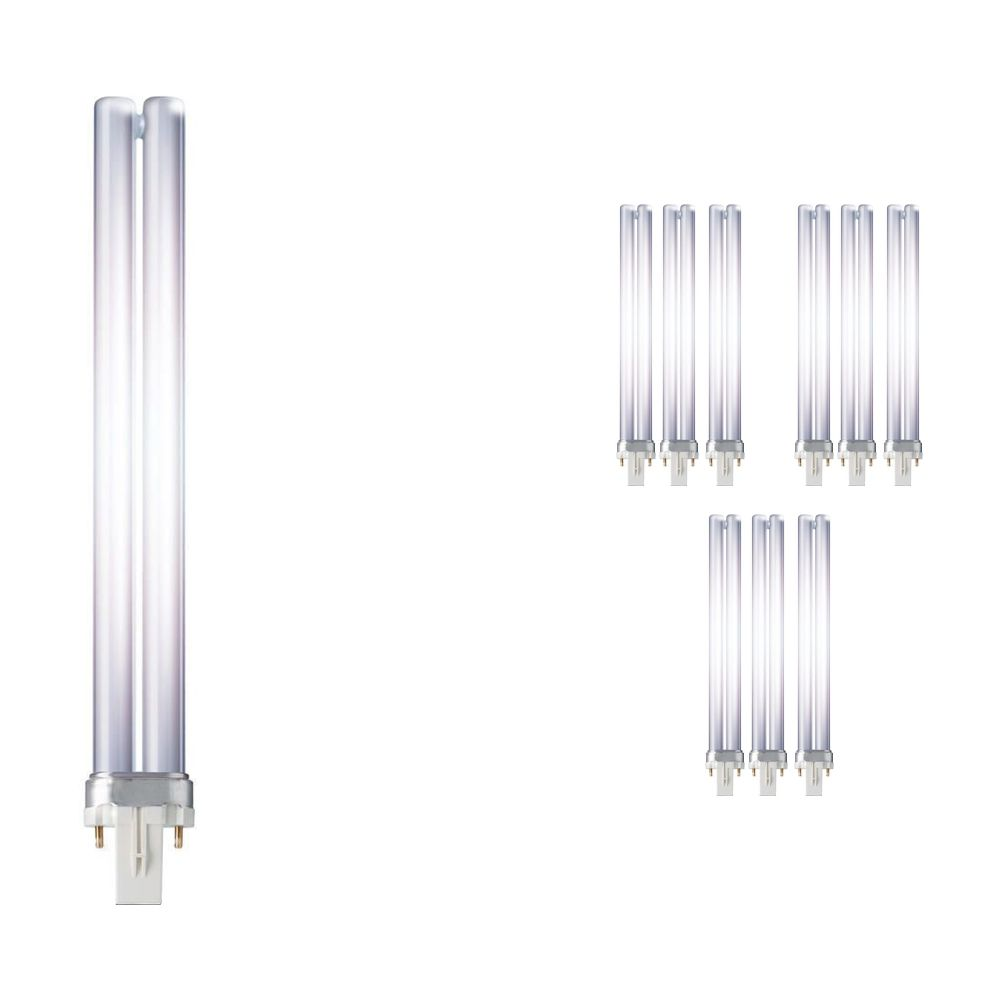 Fordelspakke 10x Philips PL-S 11W 827 2P (MASTER) | ekstra varm hvid - 2-pinde