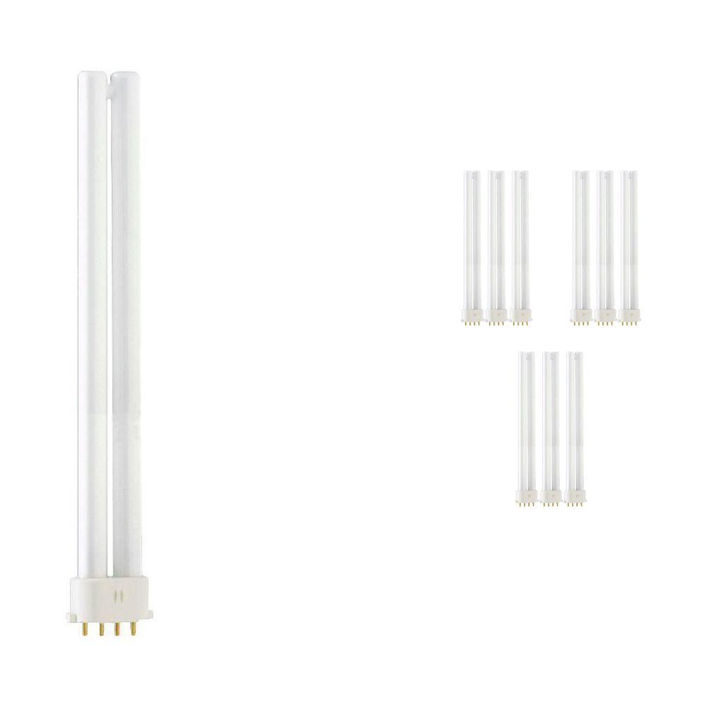 Fordelspakke 10x Philips PL-S 11W 830 4P (MASTER) | varm hvid - 4-pinde