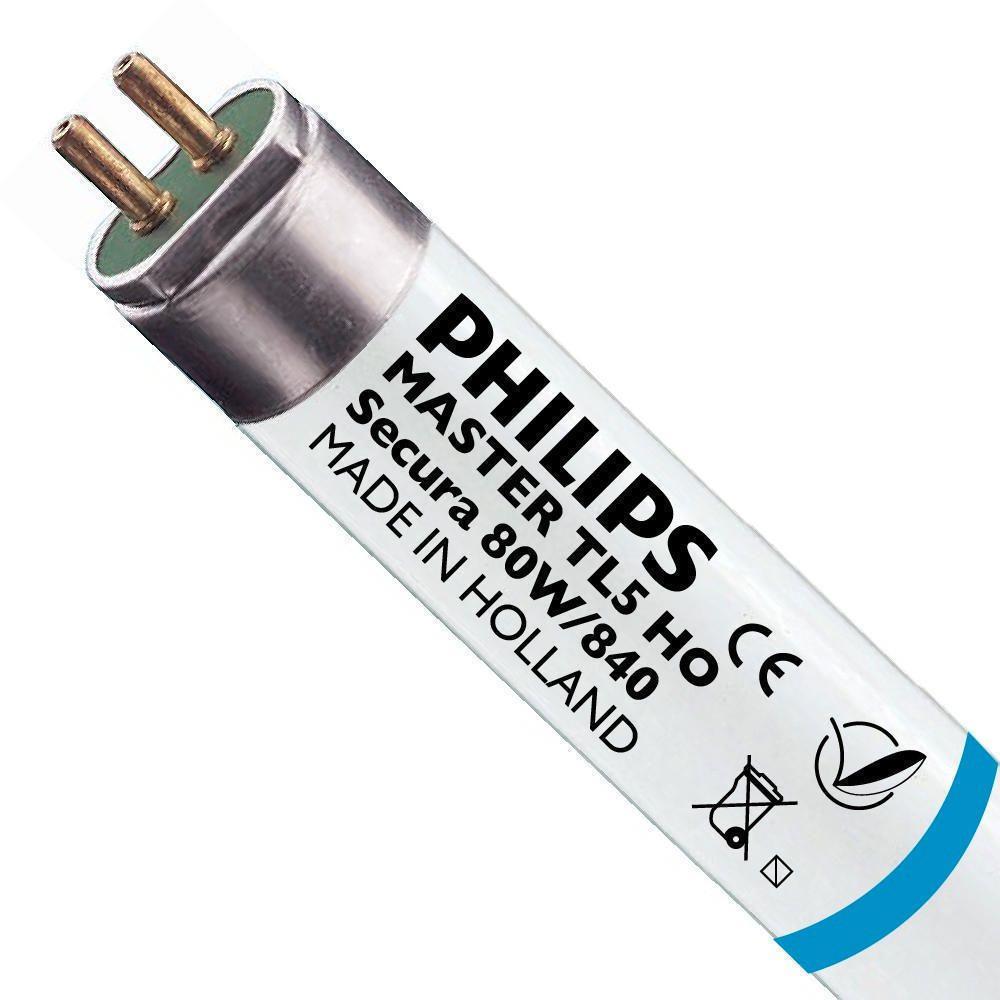 Philips TL5 HO Secura 80W 840 (MASTER)   145cm - kold hvid