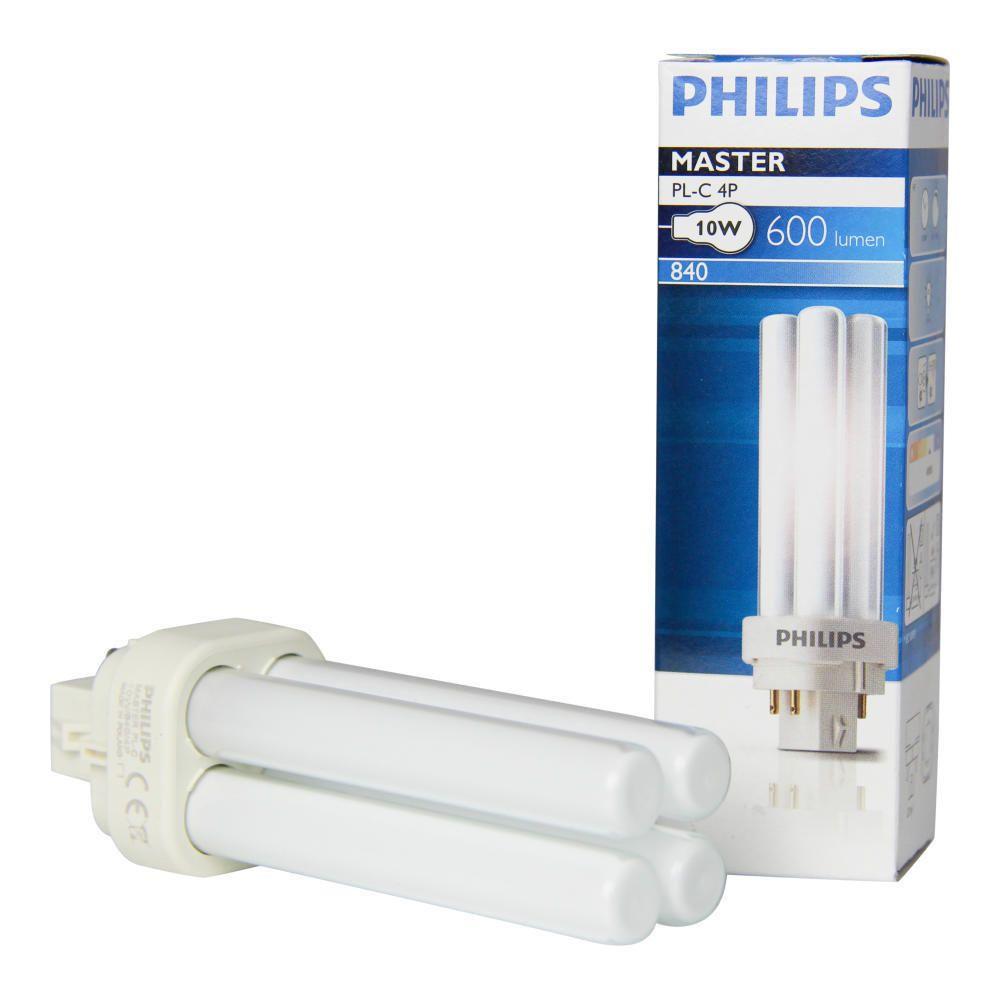 Philips PL-C 10W 840 4P (MASTER) | kold hvid - 4-pinde