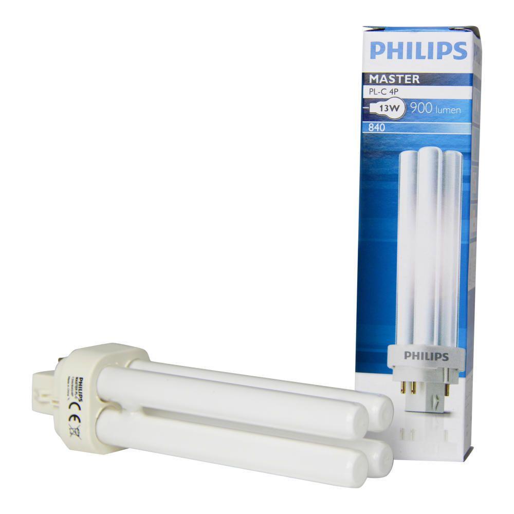 Philips PL-C 13W 840 4P (MASTER) | kold hvid - 4-pinde