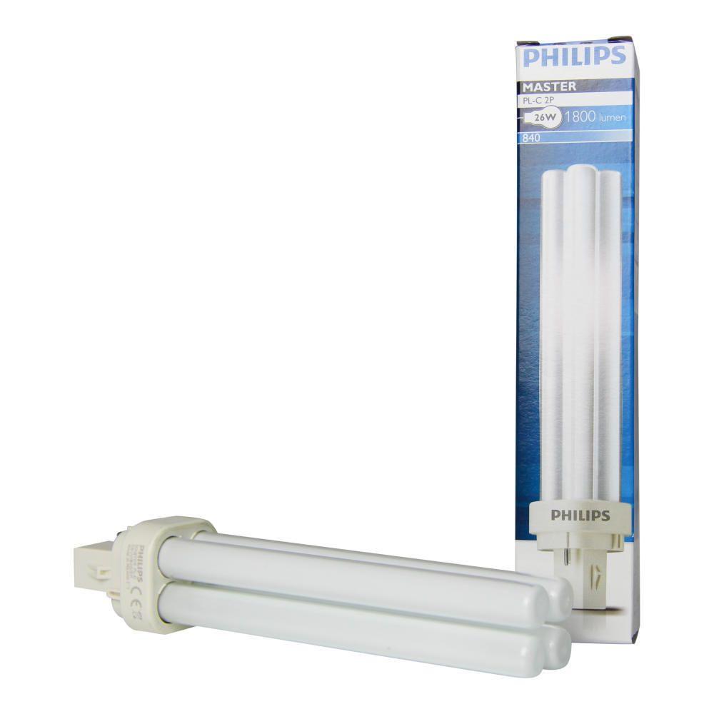 Philips PL-C 26W 840 2P (MASTER) | kold hvid - 2-pinde