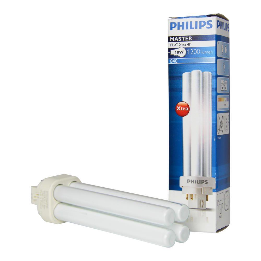 Philips PL-C Xtra 18W 840 4P (MASTER) | kold hvid - 4-pinde