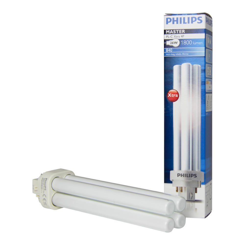 Philips PL-C Xtra 26W 840 4P (MASTER)   kold hvid - 4-pinde
