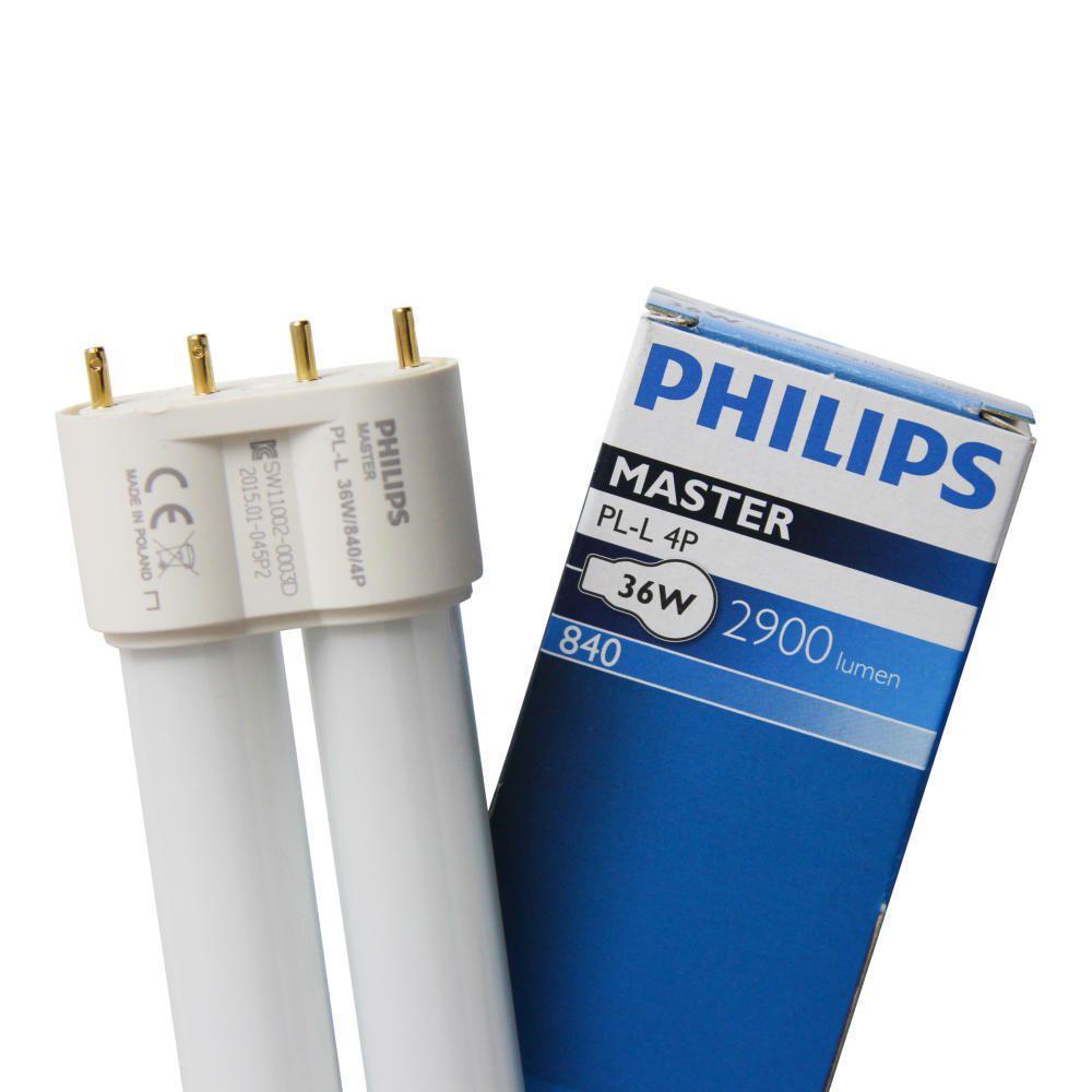 Philips PL-L 36W 840 4P (MASTER)   kold hvid - 4-pinde