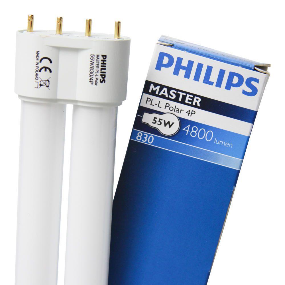 Philips PL-L 55W 830 4P (MASTER) | varm hvid - 4-pinde