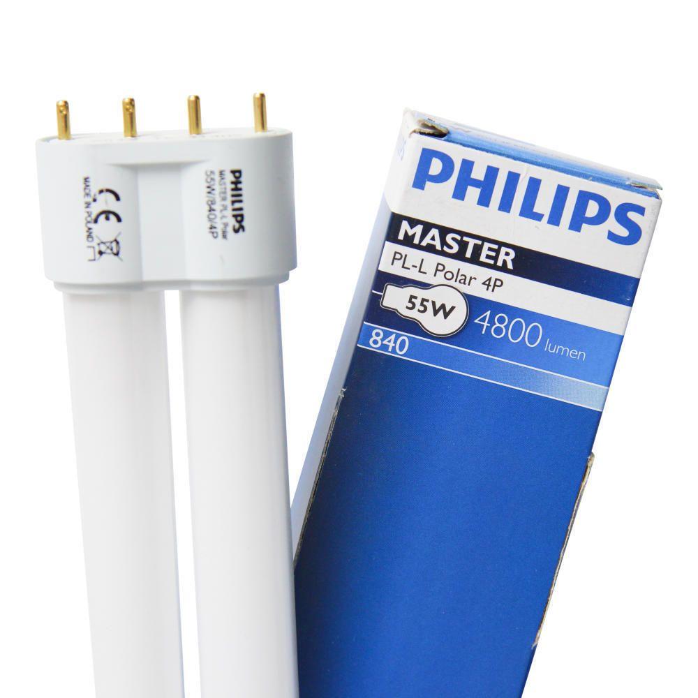 Philips PL-L Polar 55W 840 4P (MASTER)   kold hvid - 4-pinde