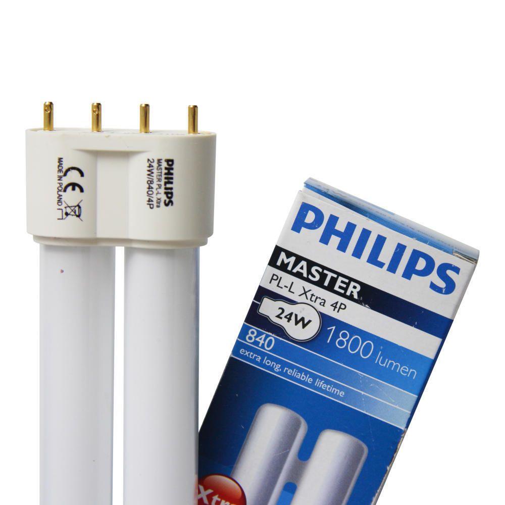 Philips PL-L Xtra 24W 840 4P (MASTER) | kold hvid - 4-pinde