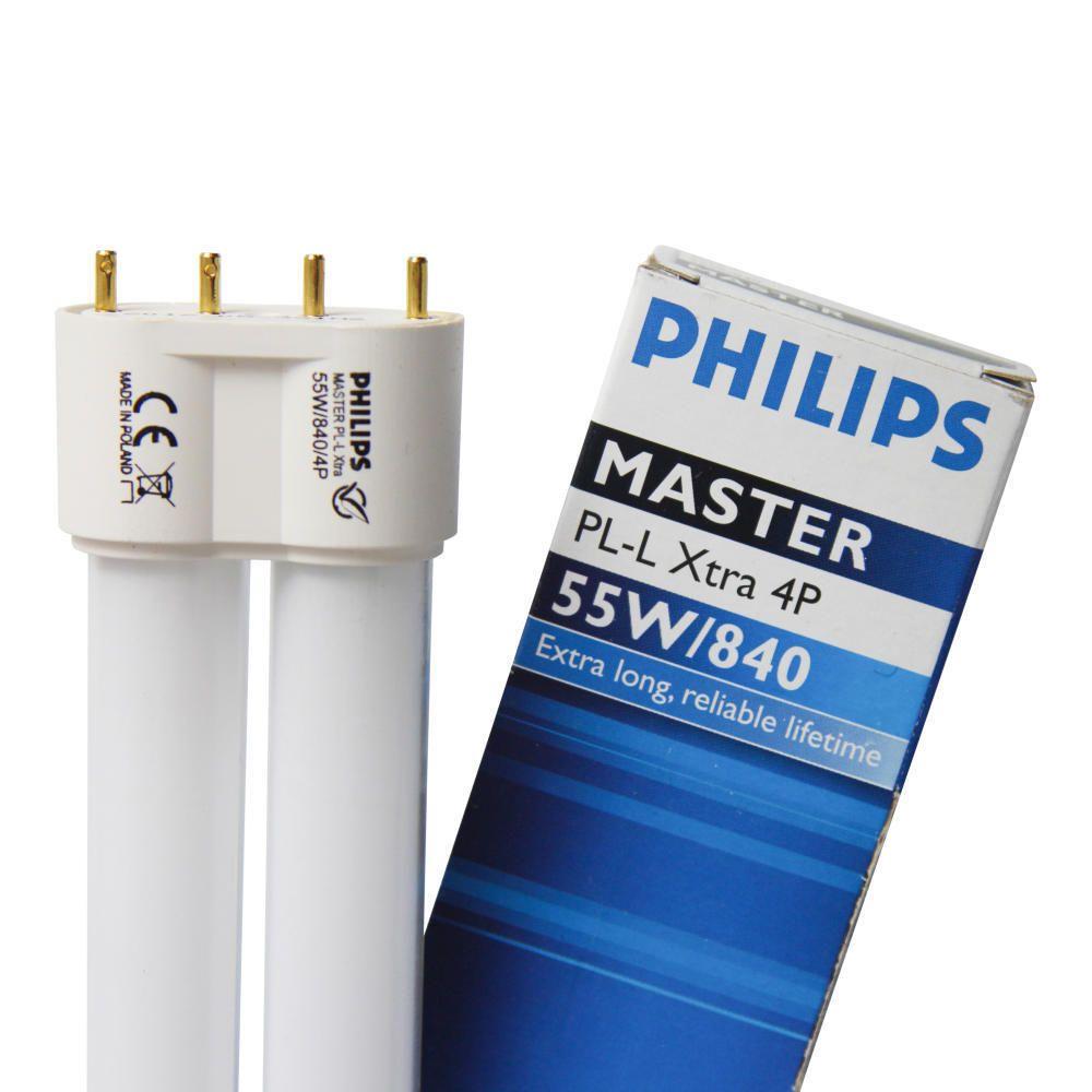 Philips PL-L Xtra 55W 840 4P (MASTER) | kold hvid - 4-pinde