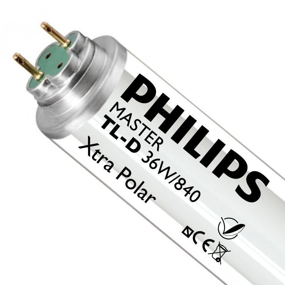 Philips TL-D Xtra Polar 36W 840 (MASTER)   120cm - kold hvid