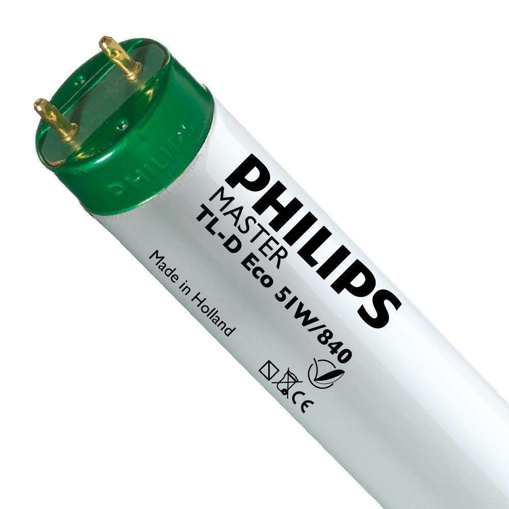 Philips TL-D Eco 51W 840 (MASTER) | 150cm - kold hvid