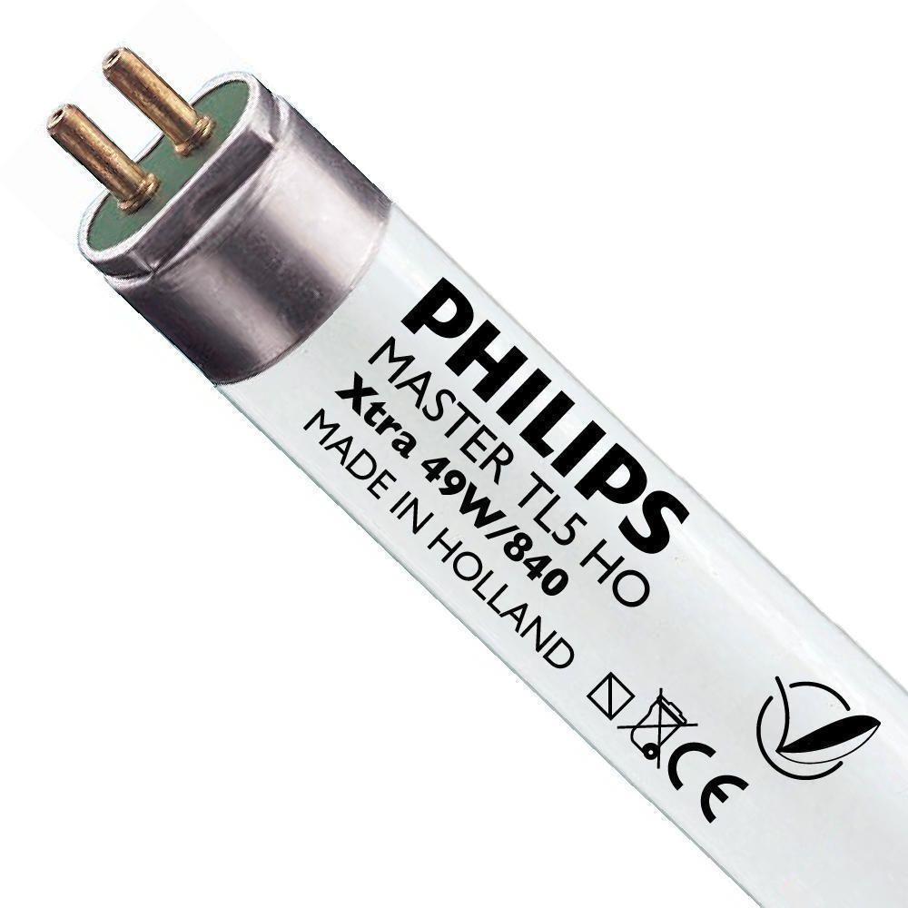 Philips TL5 HO Xtra 49W 840 (MASTER) | 145cm - kold hvid