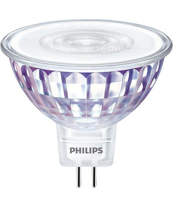 Philips LEDspot VLE GU5.3 MR16 7W 830 60D (MASTER)   varm hvid - dæmpbar - erstatter 50W