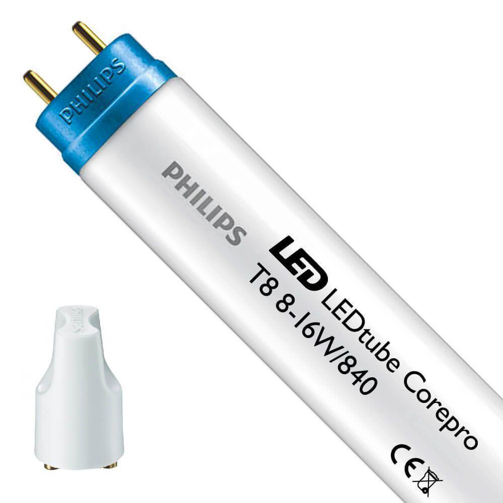 Philips CorePro LEDtube EM 8W 840 60cm   kold hvid - LED starter er inkl. - erstatter 18W
