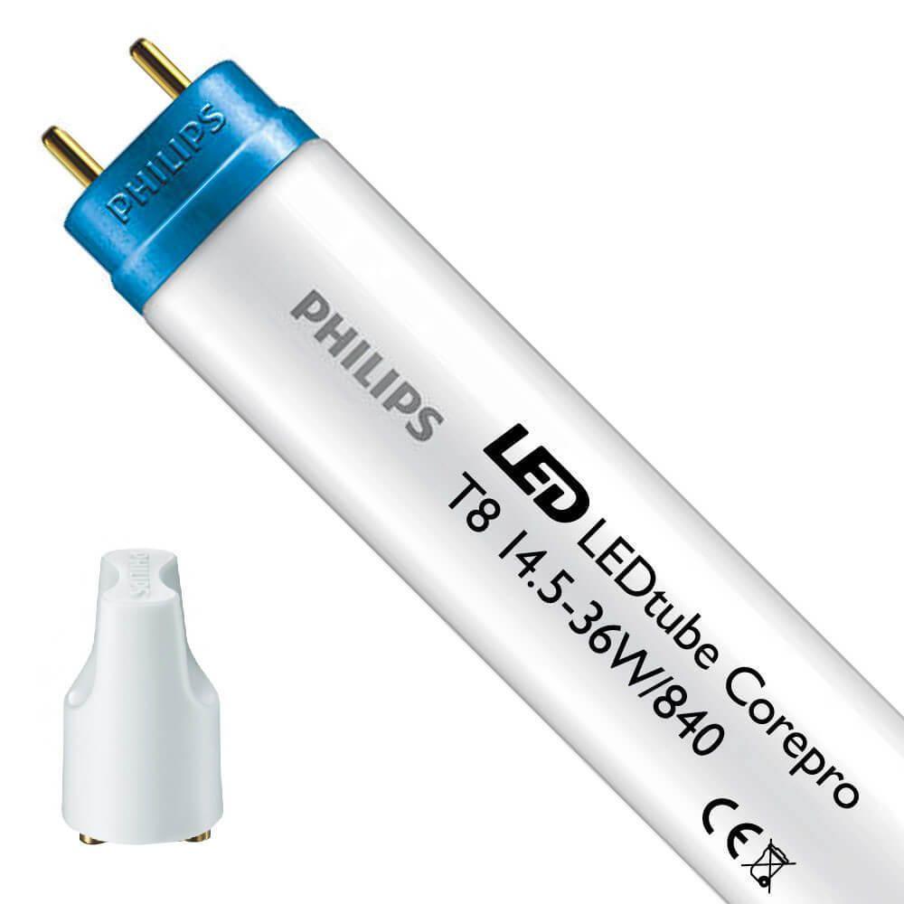 Philips CorePro LEDtube EM 14.5W 840 120cm   kold hvid - LED starter er inkl. - erstatter 36W
