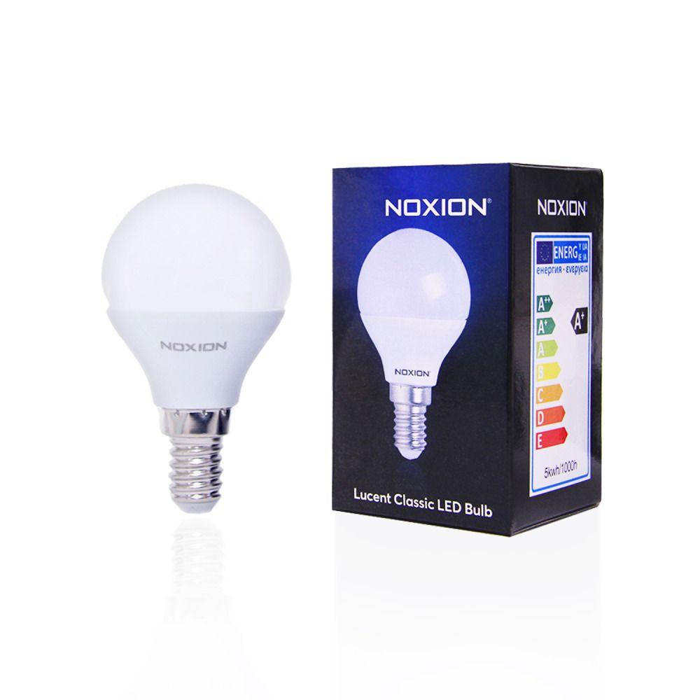 Noxion Lucent LED Classic Lustre 5W 827 P45 E14 | ekstra varm hvid - erstatter 40W