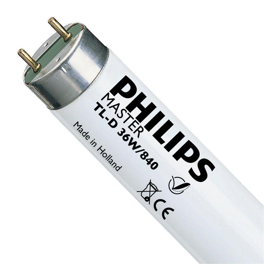 Philips TL-D 36W 840 Super 80 (MASTER)   120cm - kold hvid