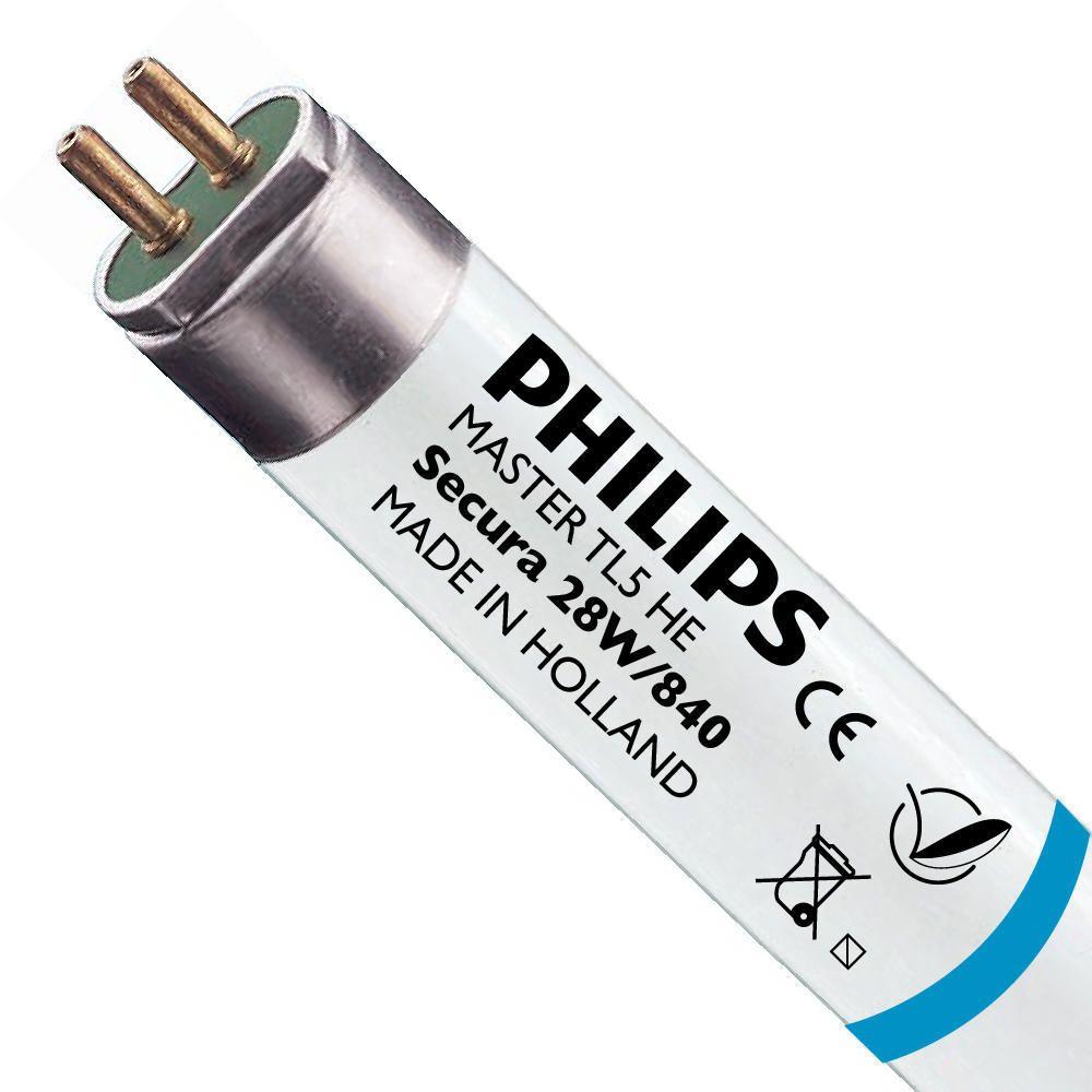 Philips TL5 HE Secura 28W 840 (MASTER) | 115cm - kold hvid