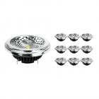 Fordelspakke 10x Noxion Lucent LED spot AR111 G53 Pro 12V 12W 927 40D| ekstra varm hvid - bedste farvegengivelse - dæmpbar - erstatter 50W