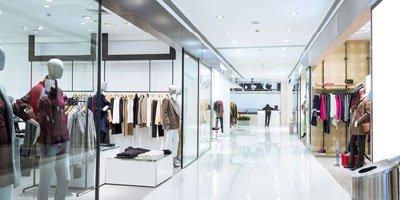 Modebutik Belysning